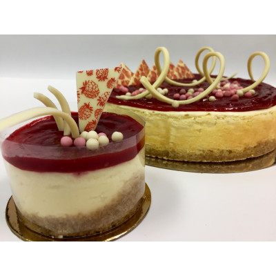 Gâteau fromage et framboise
